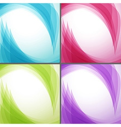 Bright wavy arrows backgrounds collection vector
