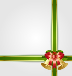 Christmas gift ribbon vector