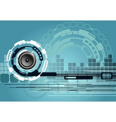 Music technology background vector