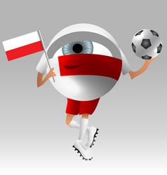 Football poland fan eyeball vector