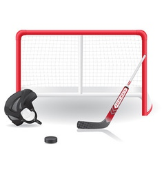 Hockey set vector