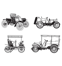 Set of the retro automobiles vector