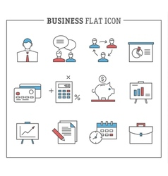Business and finance analytics icons vector