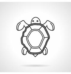Black line icon for turtle vector