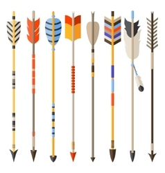 Ethnic set of indian arrows in native style vector
