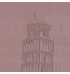 Leaning tower of pisa background vector