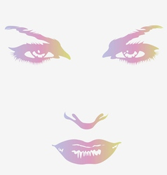 Woman beautiful face vector