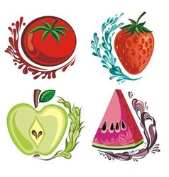 Fruit set vector