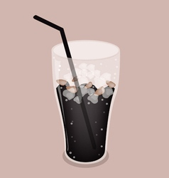 Iced coffee cola drink background vector