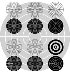 Stencils of targets first variant vector