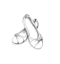 Ballerina shoes vector