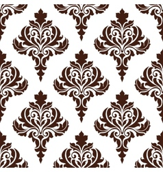 Brown damask seamless pattern background vector