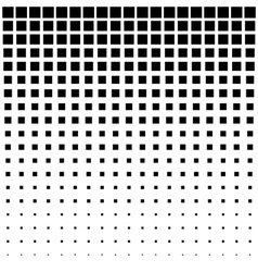 Black abstract halftone square dot background vector