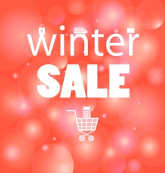 Winter sales message vector