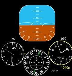 Cockpit control panel vector