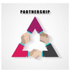 Partnership sign vector
