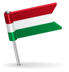 Hungarian pin icon flag vector