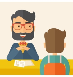 Job interview vector