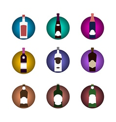 Bottle icon set vector