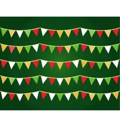 Christmas flags vector