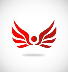 Red wing logo vector