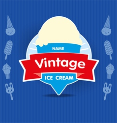 Ice cream vintage label vector