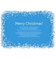 Christmas frame with snowflakes over blue vector