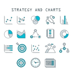 Business infographic icons graphics vector