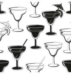 Seamless background glasses silhouettes vector