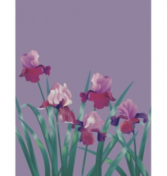 Subtle flower background vector