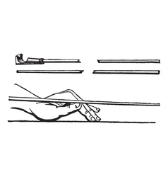 Cue stick and left hand cue stick position vector
