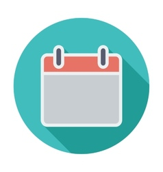 Calendar stroke icon vector