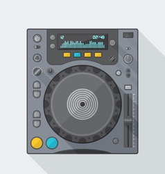 Flat style dj cd player icon with shadow vector