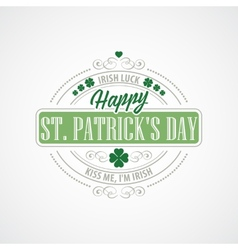 Typography st patrick day vector