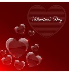 Valentines day celebrate card vector
