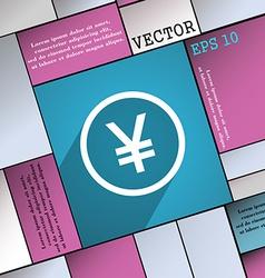 Japanese yuan icon symbol flat modern web design vector