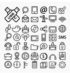 Communication icons on white paper eps10 vector