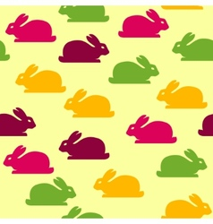 Seamless background with funny bunnies vector