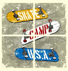 Skate camp usa vector
