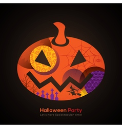 Halloween party pumpkin vector