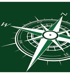 Green compass vector
