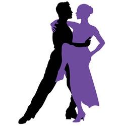 Tango dancing vector