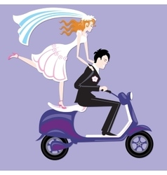 Wedding moto vector