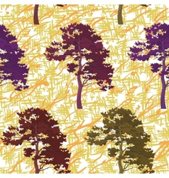 Seamless trees and abstract pattern vector