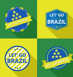 Brazil ribbons and labels vector