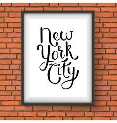 Simple new york city concept on a hanging frame vector