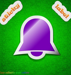 Alarm bell icon sign symbol chic colored sticky vector