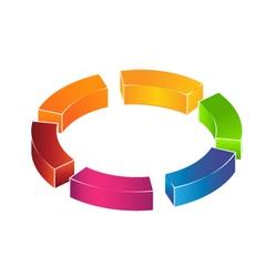 3d circle boxes logo vector