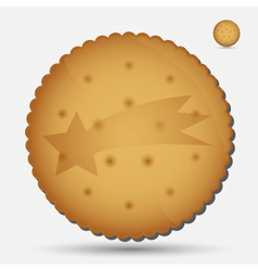 Christmas brown biscuit with comet symbol eps10 vector