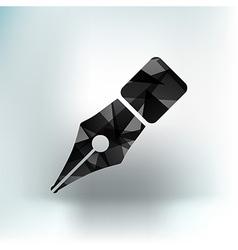 Fountain pen icon pen business write symbol vector